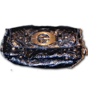 GUESS Patent Leather Shoulder Bag
